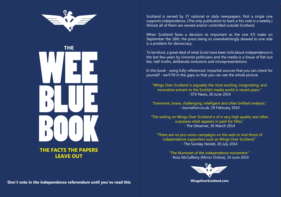 To wee blue book made bigger